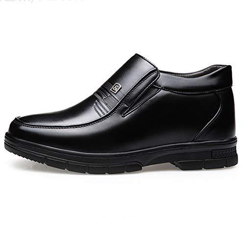 Botas de Nieve para Hombre de Piel Interior cálido de Cuero Suave de Invierno Zapatos para Caminar al Aire Libre
