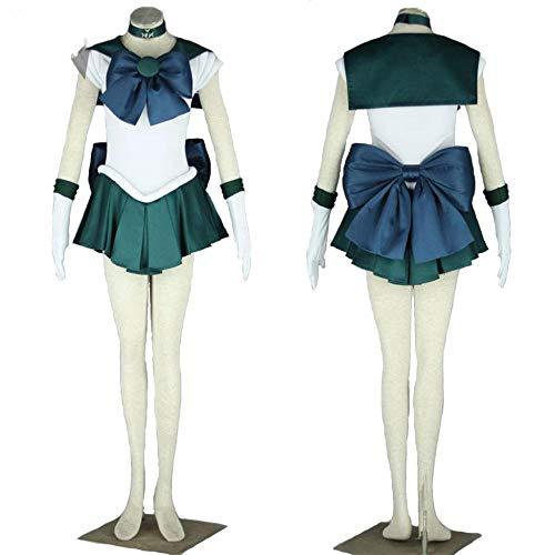 CHANGL Anime Sailor Moon Sailor Neptun Cosplay Kostüm nach Maß Michiru KaiohKleid für Kinder Erwachsene Halloween-Set
