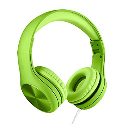 New! LilGadgets Connect+ PRO Kids Premium Volume Limited Wired Headphones with SharePort (Children) - Green from LilGadgets