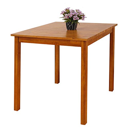 OAK Minimalist Retro Design Square Coffee Rustic Living Room Small Side Table Wood 75x75cm