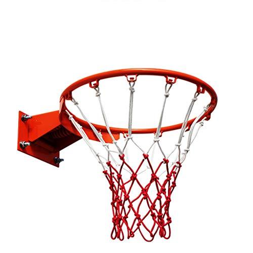 Chenhan Pared Hoop de Baloncesto y Dos Redes al Aire Libre de Baloncesto al Aire Libre 18 '' Talla Oficial GOL de Baloncesto para Adultos para Adultos Aro de Baloncesto (Color : Diameter: 35cm)