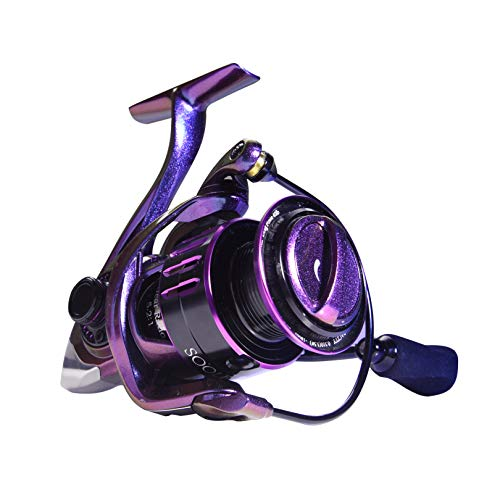 SOOLF Saltwater Spinning Reel - Aluminum Frame Fishing Reel 9+1 Stainless Steel Shielded BB, Aluminum Spool, 5.2:1 Gear Ratio