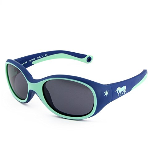 ActiveSol KINDER-Sonnenbrille | MÄDCHEN | 100{936e7e27174eb740ef005907fd54dd6cb047fa62602985d81516926ca3e95da9} UV 400 Schutz | polarisiert | unzerstörbar aus flexiblem Gummi | 2-6 Jahre | 22 Gramm [Unicorn]