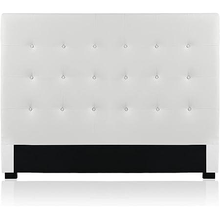 INTENSE DECO Tête de lit capitonnée Premium 160cm Blanc
