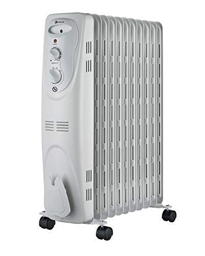 Haverland NYEC-11 Ölradiator | 2300W | 3 Heizstufen | Stufenloser Thermostatregler | Fahrbar | Kipp- und Überhitzungsschutz | Betriebsanzeige | Bodenrollen | Weiß