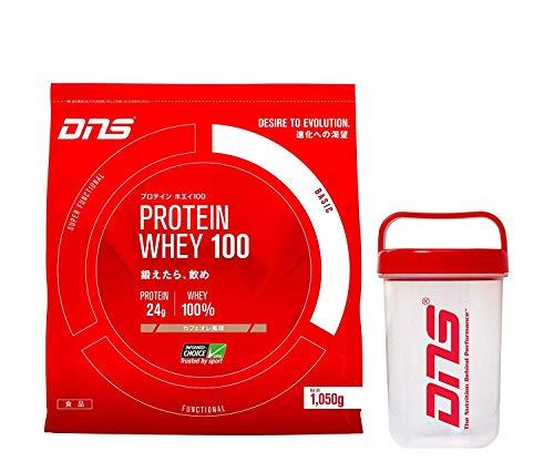 DNS プロテイン ホエイ 100 1050g + シェーカー セット (カフェオレ 風味) [ヘルス&ダイエット食品]