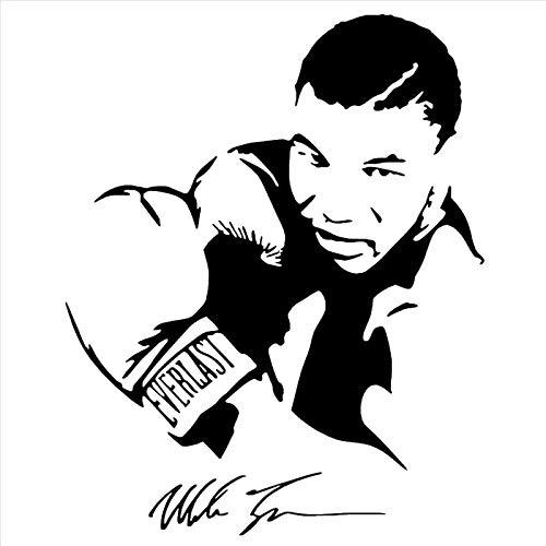 Shentop Boxhandschuhe Tyson Aufkleber Boxer Kick Kick Aufkleber Free Kick Poster Vinyl Vorderwand Aufkleber 58 * 68 cm Schlafzimmer wandaufkleber, Spiegel wandaufkleber,