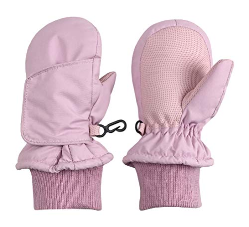 3 Pairs Baby Winter Mitten Gloves Fleece Warm Gloves Thickened Windproof Gloves for Kids Aged 6-18 Months Color Set 2