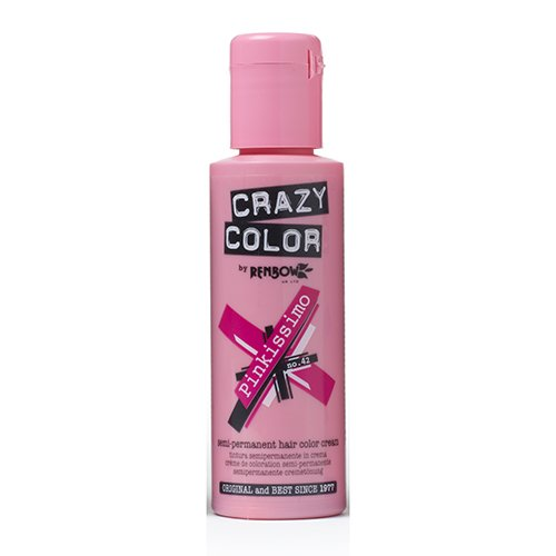 Renbow Crazy Color Semi-Permanent Hair Color Dye pinkissimo 42-100 ml, 1er pack (1 x 115 g)