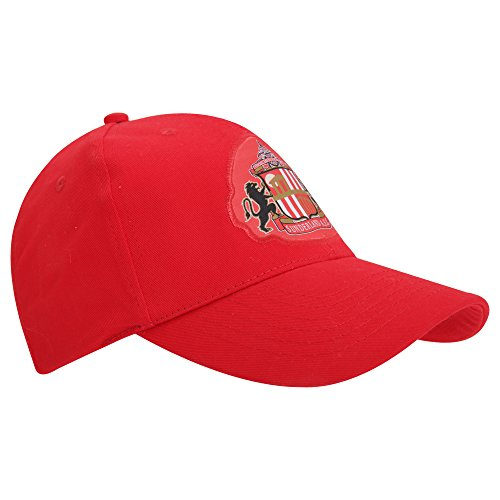 Sunderland AFC Official Core Football Crest Baseball Cap (One Size) (Red)