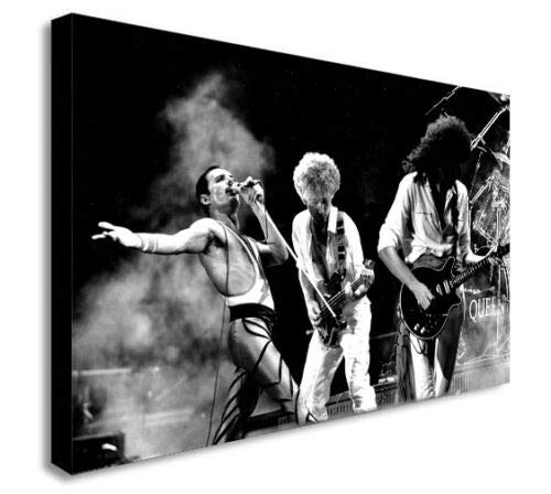 Kunstdruck auf Leinwand, Motiv Queen Rockband, gerahmt, verschiedene Größen (A2, 61 x 40,6 cm)