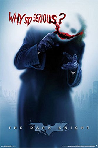Batman The Joker Why So Serious Poster, Size 24x36