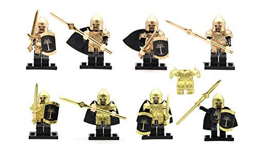 Magma Brick Figura de acción de la Fuerza de Gondor con Conjunto de Armadura y Arma Compatible con los Legos