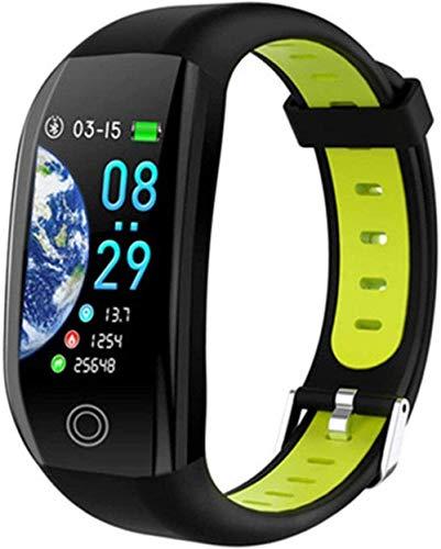 Smart Watch Pulsera inteligente GPS Fitness Tracker 1.14 Deporte Impermeable Presión Arterial Reloj Monitor de Sueño Banda Banda Negro Mejor Regalo Negro/Negro-Verde