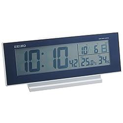 Seiko Clock Clock Night Lights Radio Digital Alarm Clock (Dark Blue) SQ762L