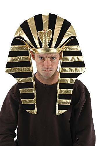 elope King Tut Plush Costume Hat Headdress for Adults