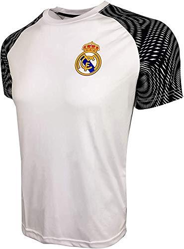 Camisa de Treino Real Madrid para Crianças, Camiseta Licenciada Real M., Branco, Youth - Large