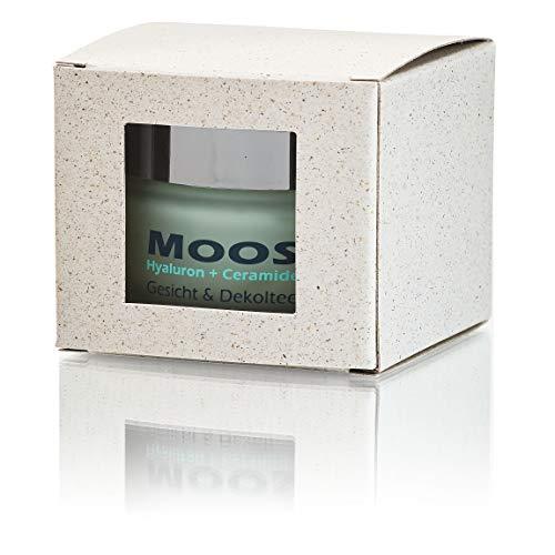 Moossalbe, Antiaging Gesichts & Dekolteepflege 50 ml, Mooscreme mit Islandmoos, Hyaluron und Ceramiden, Anti-Faltencreme, gegen Falten und trockene Haut
