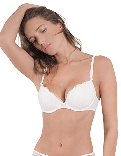 Maison Lejaby 17231-801 Women's Insaisissable Off White Wired Push Up Bra 32A