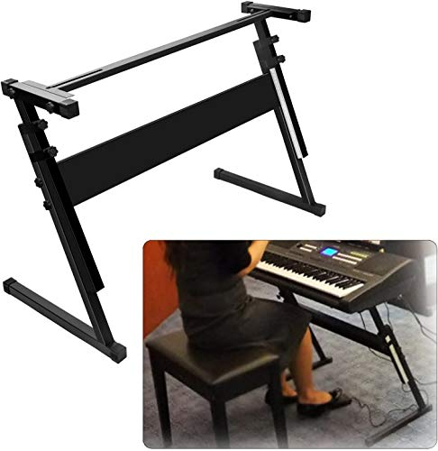 Keyboard Stand for 61 or 54 keys, Z-Style, Piano Keyboard Stand Height Adjustable, Light Weight, Professional Heavy Duty Digital Piano Stand