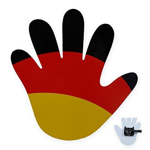 winkende Hand für Scheibenwischer Flagge Deutschland Fanartikel Fußball EM #1549