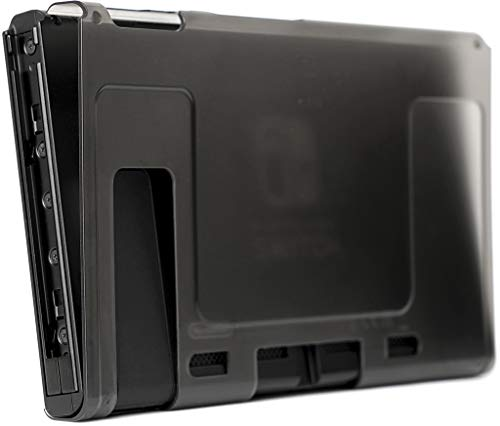世界最薄 装着したままドッグに収容可能 『Nintendo Switch専用 透明保護カバーケース』【超軽量 傷・汚れ・指紋防止 ゲームプレイに支障なし】「ウルトラスリムケース(スモークブラック)」任天堂スイッチ専用 カバーケース