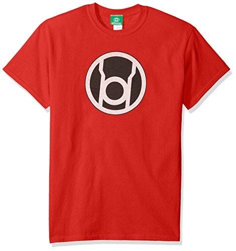 DC Comics Men's Green Lantern Short Sleeve T-Shirt, Red, 2XL