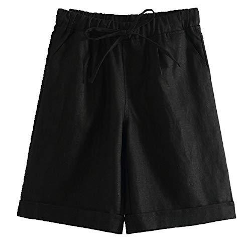 N\P Pantalones de cinco puntos para mujer mediados pantalones casuales