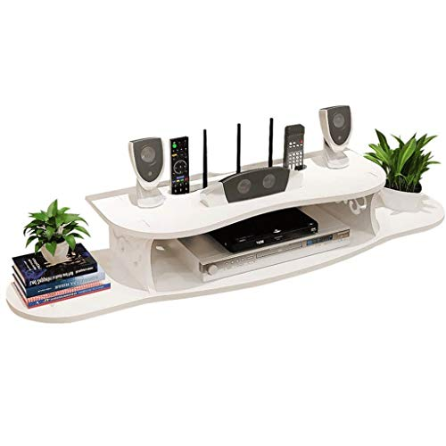 NINGGK Móvil Flotante Pared Plataforma Plataforma, Caja de WiFi TV Estante Colgante de Pared for TV vía satélite de televisión por Cable a DVD Set Top Box