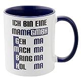 Geschenke 24 Tasse – Mama GmbH: witzige Kaffeetasse mit Spruch für Mütter – originelles Muttertagsgeschenk I Geburtstagsgeschenk für Mama von Tochter Sohn Kindern
