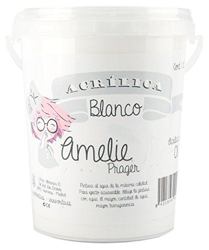 Amelie Prager 1L/01 Pintura Acrílica, Blanco, 1000 ml