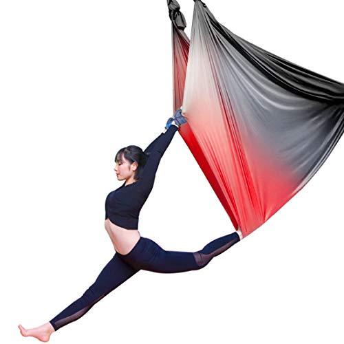 Affordable LWKBE Aerial Yoga Hammock 5.5 Yards Aerial Silk Yoga Swing Set with 2000 Ibs Load Include...