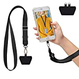 Phone Lanyard, Adjustable Cell Phone Strap for Around The Neck Lanyard-Black