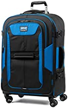 Travelpro Bold-Softside Expandable Luggage with Spinner Wheels, Blue/Black, Checked-Medium 26-Inch