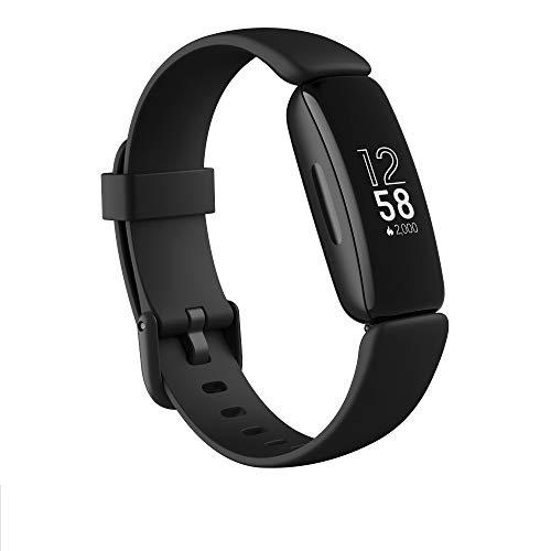 Fitbit Inspire 2 - Pulsera de salud y actividad física con ritmo cardiaco continuo, 1 año del servicio Fitbit Premium incluido y 10 días de batería, Negro