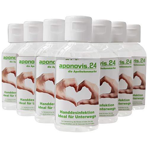 Handdesinfektion 50ml in Großpackung 10 Stück ideal für Unterwegs - Wirkstoff/Einsatzkonzentration: 70% 2-propanol