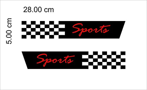 ARWY® Hyundai Sport Car Sticker Exterior Front Bumber View Decorative Hyundai Black Red Decals L x H 28.00 X 5.00 Cms(Pack of 2)