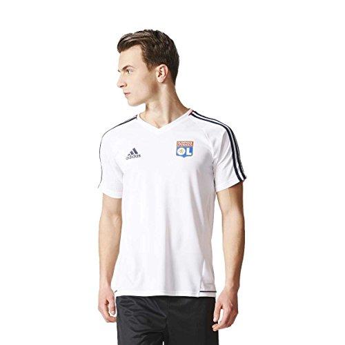 adidas Herren Olympique Lyon Trainingstrikot Authentic, White/Conavy, 3XL