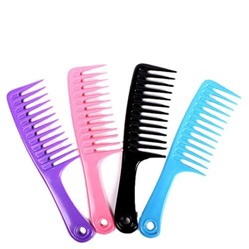 Grande dent Large Combs Hook poignée démêlant Réduire Peigne Perte de Cheveux Pro Hairdress Salon Dyeing Styling Outils Pinceau Vente Hot (Color : Dark Red)