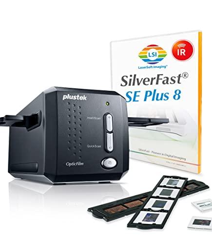 Plustek OpticFilm 8200i SE 35mm Dia/Negativ Filmscanner (7200 dpi, USB) inkl. SilverFast SE