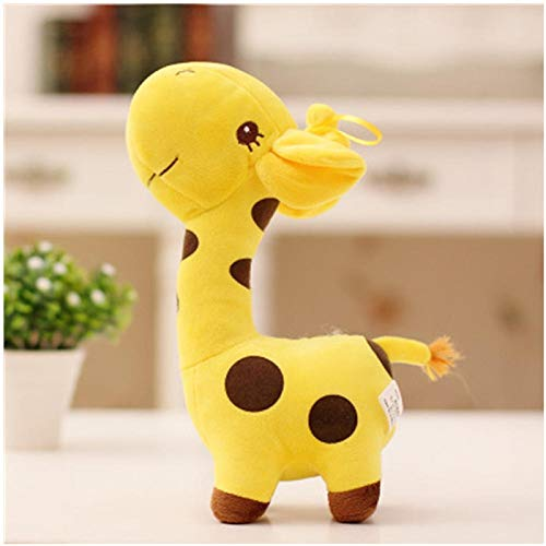 Wuyuana Plushies Kawaii felpa unisex jirafa de peluche suave animal querido muñeca bebé niño niño Navidad cumpleaños feliz regalos coloridos 5 colores juguetes blandos (color: 2)