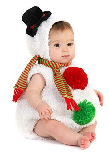 Princess Paradise Baby Toddler Snowman Costume, White, 6 to 12 Months