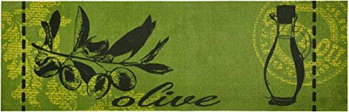 Waschbarer Küchenläufer Olive Grün 50x150 cm | 102448