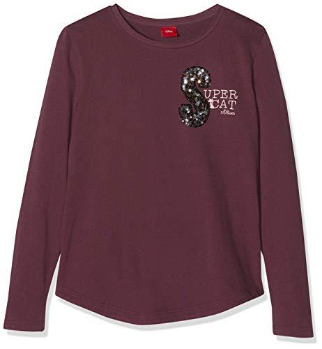 s.Oliver Junior Mädchen 53.810.31.8266 T-Shirt, Violett (Deep Purple 4980), 116 (Herstellergröße: 116/122/REG)
