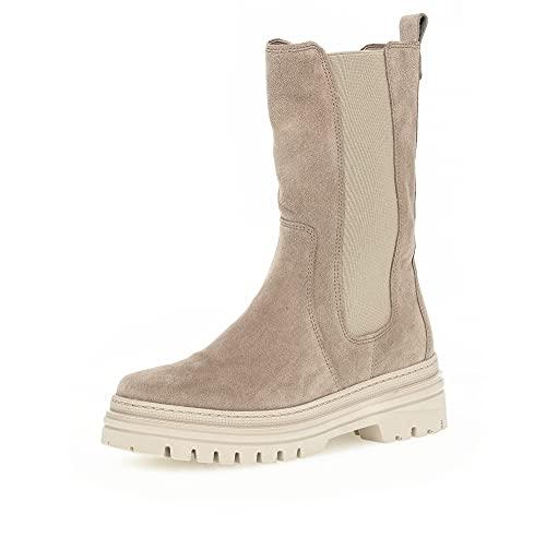 Gabor Damen Chelsea Boots, Frauen Stiefeletten,Wechselfußbett,Best Fitting,Winterschuhe,Women's,Woman,Ladies,Boots,Desert (Panna),43 EU / 9 UK
