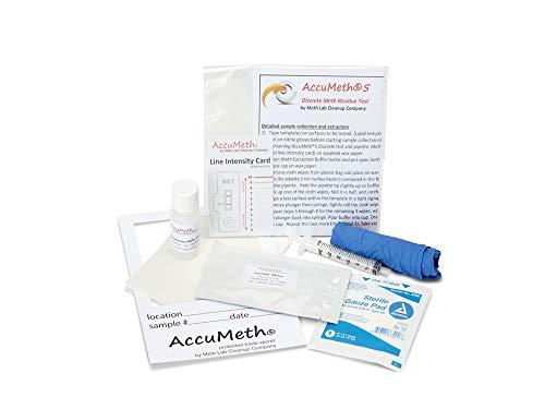 AccuMeth5 Methamphetamine Residue Detection Test Kit for Homes   0.5...