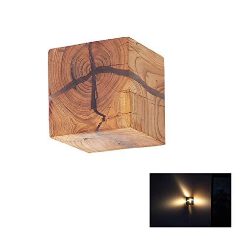 Holz Wandleuchte, moderne minimalistische LED Massivholz kleine Wandleuchte Kreative Esszimmer Cafe Treppe Wandleuchte Nordic Wohnzimmer Schlafzimmer Nachttischlampe