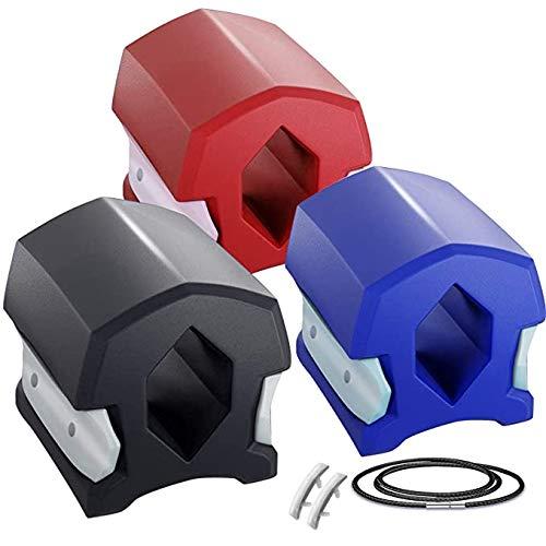 2020Mobility Jawline - Ejercitador de mandíbula unisex para mandíbula, mejillas, doble barbilla, pelota de fitness (negro)