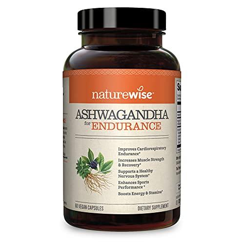 NatureWise Ashwagandha for Endurance, Adaptogen Adrenal Support...