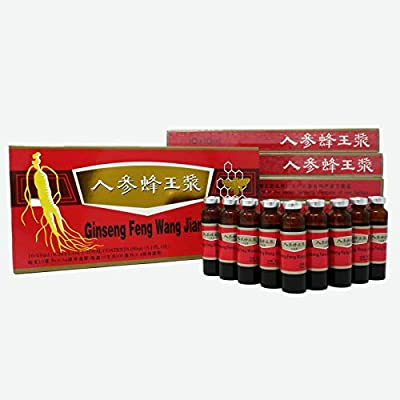 6 Boxes Ginseng Royal Jelly Oral Liquid, Red Panax Ginseng & Royal Jelly Improves Stamina, Memory, Focus, Clarity, Immunity & Energy Support,(3x10x10ml)